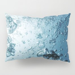 Underwater Bubbles with Sunlight, Underwater Background Bubbles. Pillow Sham