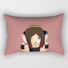 Black Rose Love Rectangular Pillow
