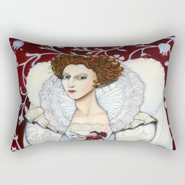 Elizabeth, the Virgin Queen, Queen of Hearts Rectangular Pillow