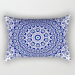 Nazar - Turkish Eye Circular Ornament #1 Rectangular Pillow