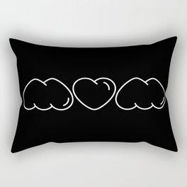 Love mom/mum (black) Rectangular Pillow