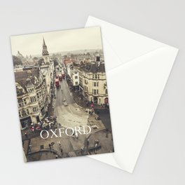 Red buses at Oxford Stationery Cards