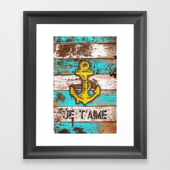 Anchor Marine (Je t'aime) Framed Art Print