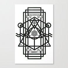 FALX MYSTICUS White Canvas Print