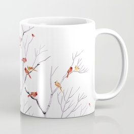 Birch Trees and Cardinal 2  Coffee Mug