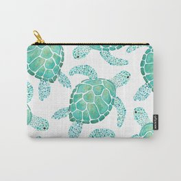 Sea Turtle Pattern - Blue Carry-All Pouch