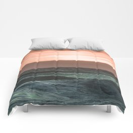 Perfect Ocean Sunset Comforters