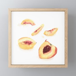 peach Framed Mini Art Print