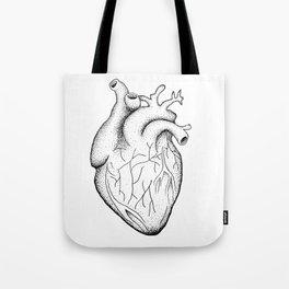 dotwork heart Tote Bag