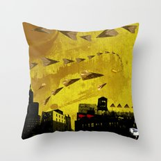 airplanes and cigarettes Throw Pillow