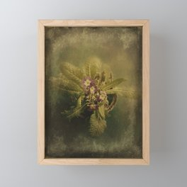 Little Winter Flower Framed Mini Art Print