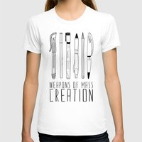 illustration T-shirts featuring weapons of mass creation by Bianca Green