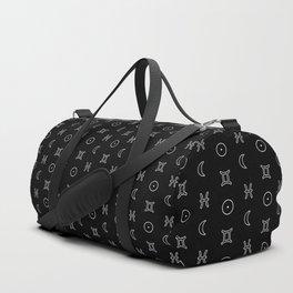 Gemini/Pisces + Sun/Moon Zodiac Glyphs Duffle Bag