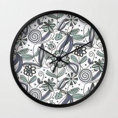 Wild garden Wall Clock