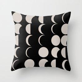 Wax On Wax Off Moon Throw Pillow
