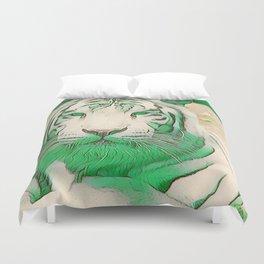 Green Tiger Duvet Cover