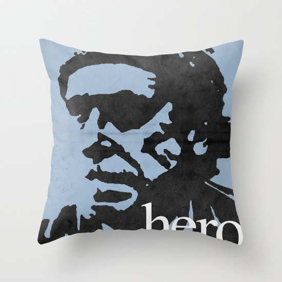 Charles Bukowski - hero. Throw Pillow