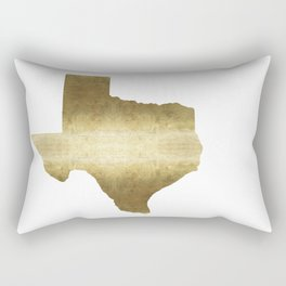 texas gold foil print state map Rectangular Pillow