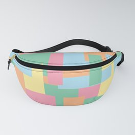 Pastel Colorful Blocks Fanny Pack