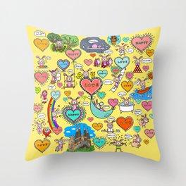 Do what makes you happy -Yellow Throw Pillow