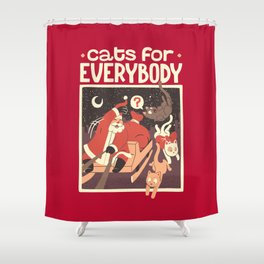 Cats for Everybody Shower Curtain