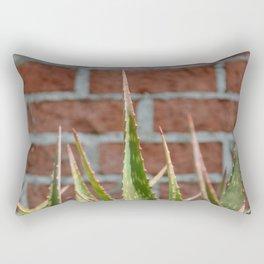 cactus and brick wall Rectangular Pillow