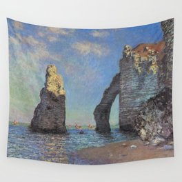 Claude Monet - The Cliffs at Etretat Wall Tapestry