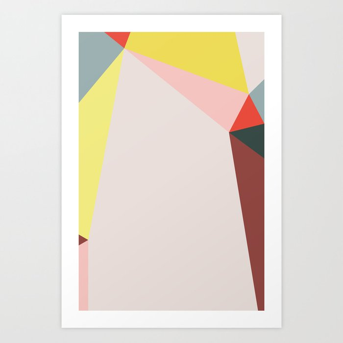 Polygonal Composition n° 5 Art Print