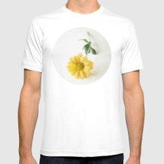 Yellow Flower StillLife MEDIUM White Mens Fitted Tee