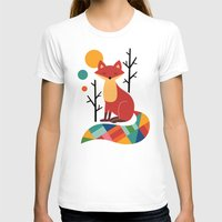 purple T-shirts featuring Rainbow Fox by Andy Westface
