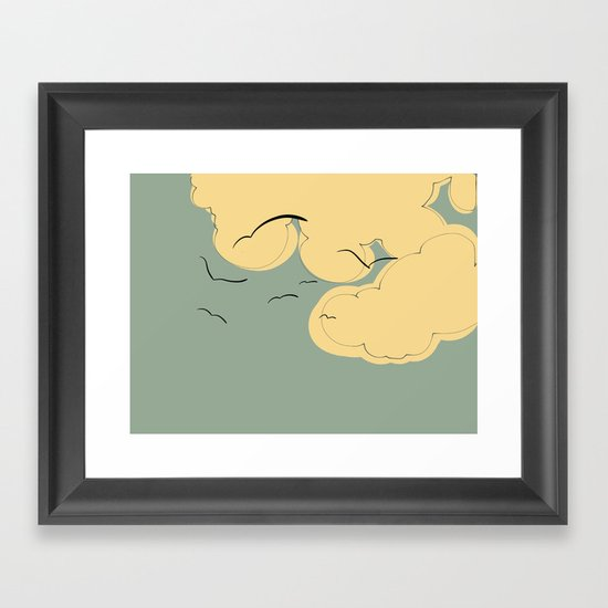The Yellow Clouds Framed Art Print