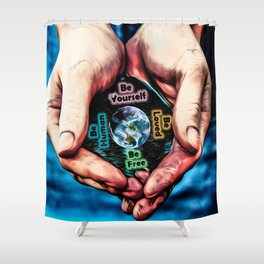 Advent Guard Earth Heart Shower Curtain