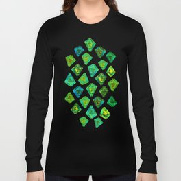 Green gemstone pattern. Long Sleeve T-shirt