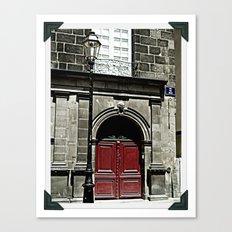 Paris 3 : The Red Door Canvas Print