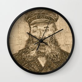 Portrait of the Postman Joseph Roulin by Van Gogh Wall Clock