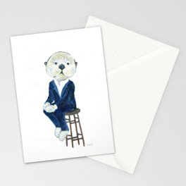Business Casual Otter Stationery Cards