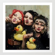DFS - Duck face syndrom Art Print