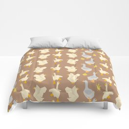 Ducks in a row Comforters