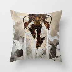 Steamy Iron Throw Pillow