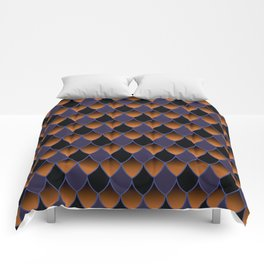 Squama Fhish Dark Pattern Comforters