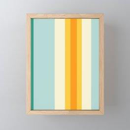 4am Egg on a Blue Plate Framed Mini Art Print