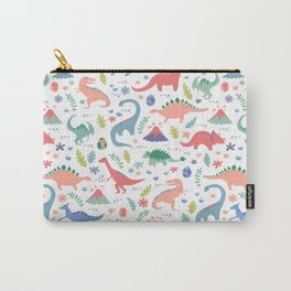 Dinos + Volcanoes - Coral Carry-All Pouch