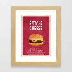 Pulp Fiction - royale with cheese Framed Art Print