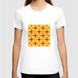 "Vibrant Yellow Orange Black ""Halloween"" Inspired Pattern T-shirt"