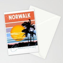 Norwalk Connecticut Retro Vintage Custom Stationery Cards