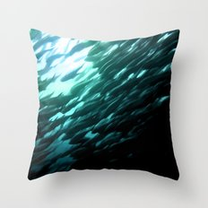 Thousands of jack fish Throw Pillow