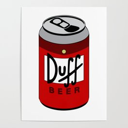 Duff Beer Can Poster
