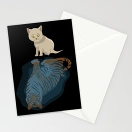 Cat funny citten tiger funny gift cat lovers Stationery Cards