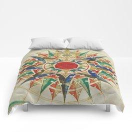 Vintage Compass Rose Diagram (1502) Comforters