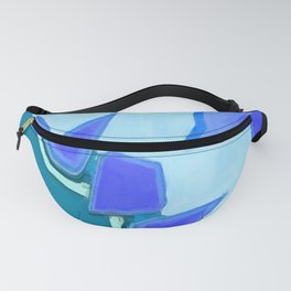 Jagged Tooth Teal Fanny Pack